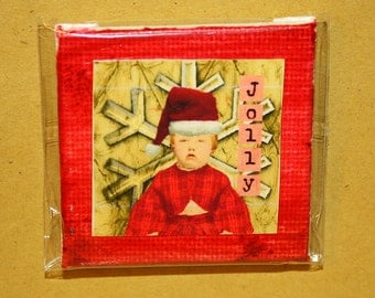 Jolly Mini Canvas Magnet - Two Inch