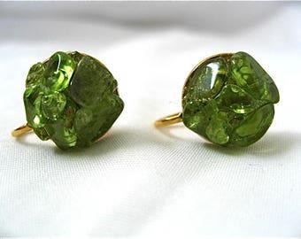 Vintage Olivine Earrings