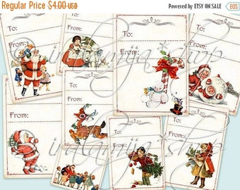 SALE WHITE CHRISTMAS collage Digital Images  -printable download file-