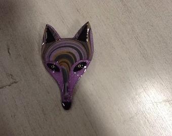 Modernist Fox Pin Pendant