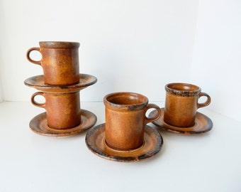 Rustic Mugs, Cup and Saucer Sets, Brown McCoy Mugs