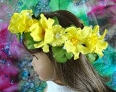 Doll Flower Crown 18 Inch Doll Flower Crown AG Doll Yellow Flower Crown Am Girl Doll Flower Crown AG Doll Flower Crown Fairy Flower Crown