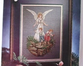 GUARDIAN ANGEL  Book 2 - Counted Cross Stitch Leisure Arts Leaflet  - Vintage 1993