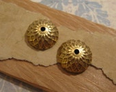 Acorn Bead Caps in Antique Gold by Nunn Design - 2 Count