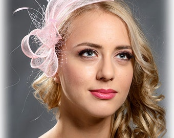 Pink, light pink elegant fascinator- New style accessory for 2017 special occasions