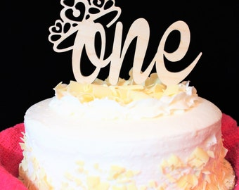A First Birthday for a Princess Cake Topper
