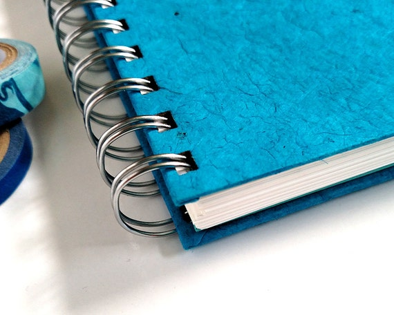 Grid Journal – Grid Notebook – Grid Bullet Journal – Blue Grid Journal – Blue Journal – Grid Page BuJo – Spiral Journal – Blue Bujo
