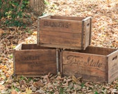Antique Vintage Beer Beverage Crates