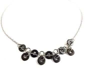 Statement Necklace Black Hardware Jewelry Industrial