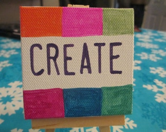 Create Hand Painted Canvas Magnet or Easel Home Decor Jenuine Crafts