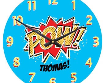 Personalised comic strip clock