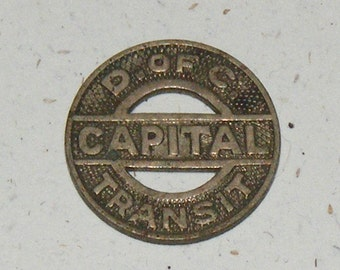 Antique Metal District of Columbia Capital Transit Coin Fare Token