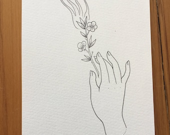 Original drawing - Hand & Manuka