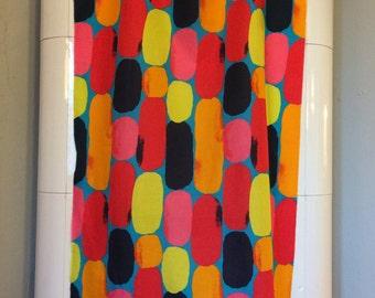 Marimekko sheer colorfull fabric 75 x 150
