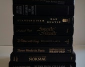 Vintage Black Book Collection - Library - Paris Book - Wedding Home Decor Office Photo Prop Bookshelf Decor Book Stack Fixer Upper Inspired