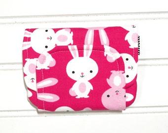 Bunny wallet, Children's wallet, Key chain wallet, Easter gift, ID holder, Girls wallet, Card wallet, Change purse, Zipper coin purse