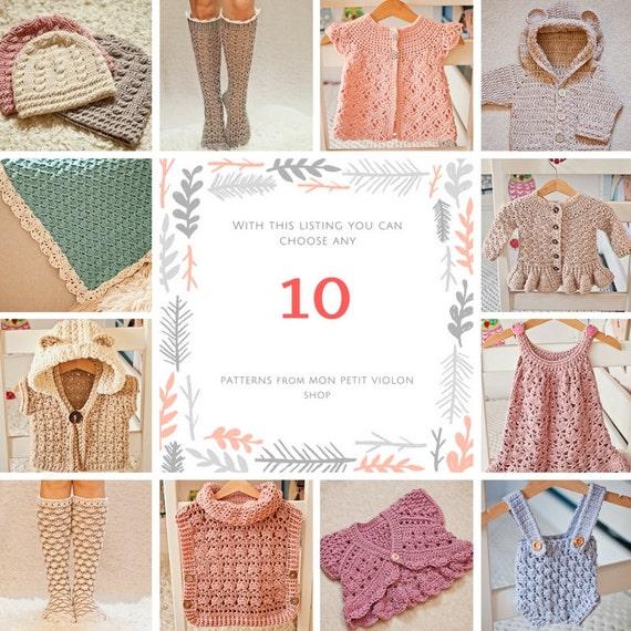 Pattern Package - choose any 10 crochet patterns