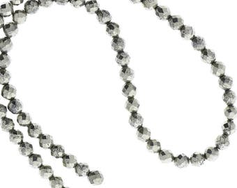 Hematite 6mm faceted beads Beads 16in strand