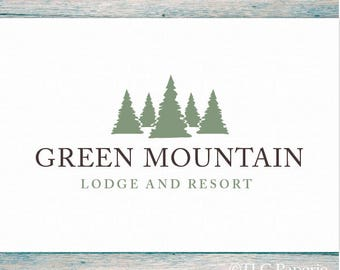 Tree Logo Design, Woods Forest Logo, Custom Logo, Pine Tree Logo, Evergreen Logo, Custom Logo Design