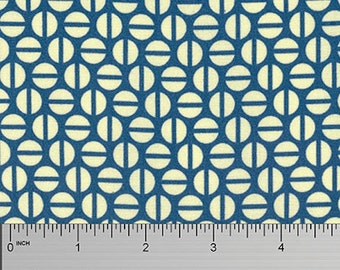 """Heather Bailey PWTC036 Divvy Dot Navy Blue Mod True Colors BTHY Half Yd 18"""" Freespirit Quilting Quilt Sew Sewing Polka Dotted Modern Fabric"""