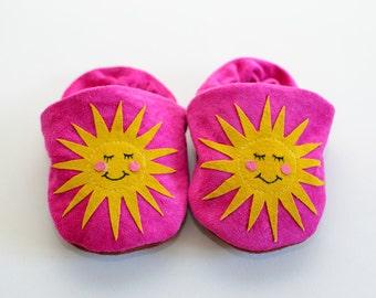 Hello Sunshine baby slippers