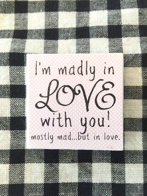 """Madly in Love with You 2"""" x 2"""" artist Canvas"""