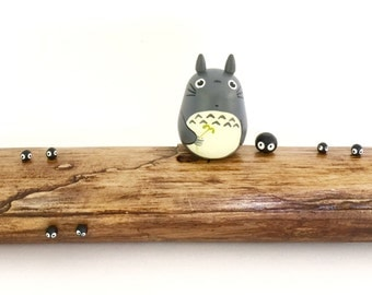 TOTORO chopstick pen pencil Teak Wood Box Studio Ghibli doll figure toy 181
