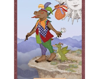 The Fool Cryptozoology Tarot Card Print
