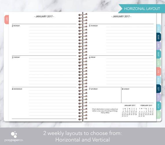 2018 weekly calendar