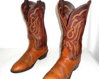 Mens Size 7 D Cowboy Boots Brown Tan Shoes Urban Folk Indie Cowgirl womens 8.5