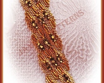Beading Tutorial - Falling leaves Bracelet - Shaped peyote