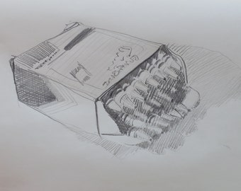 Daily #66 original drawing by South Carolina artist Linda Hunt