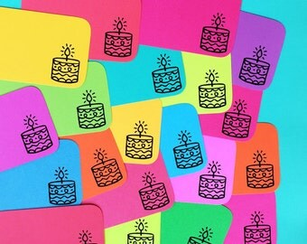 Birthday Cake Stack Pack (20 mini cards/tags)