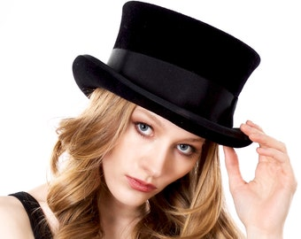 Top Hat Women Men Hat Stovepipe Coachman's Hat John Bull Hat Formal Top Hat Handmade Top Hat Men's Top Hat Fall Fashion Couture Millinery