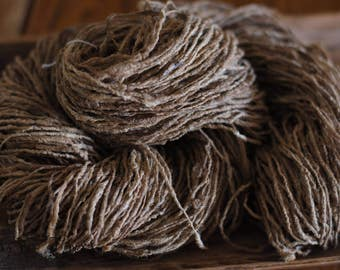 Raw Wild Tussar Silk Yarn - Hand Spun Yarn - knitting, weaving, crocheting