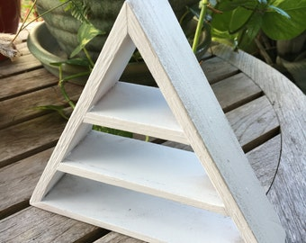 White Magic Triangle Shelf, White Magic, Pyramid Shelf, Triangle Shelf, White Shelf, White Triangle, White Pyramid, Meditation Shelf