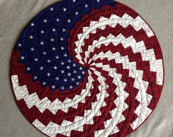 A New Spin on Old Glory Wall Hanging