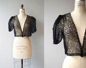 Elision lace bolero | vintage 1930s jacket | black lace 30s bolero