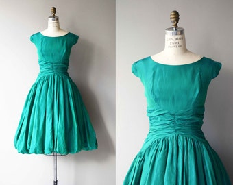 Bit o' Balsam dress | vintage 1950s dress | green 50s party dress