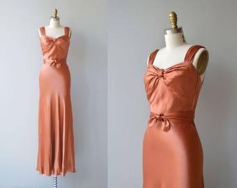Instant Legend gown | vintage 1930s dress | long 30s dress