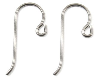 TierraCast Earwires-Grey Niobium With Small Loop (10)