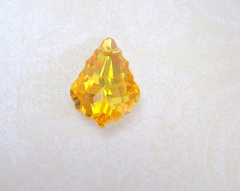 Swarovski Crystal Baroque Light Topaz Pendant - 23x16mm
