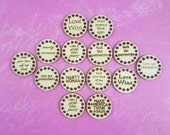 Pussy Hat Tags - birch - 16 Hole Buttons