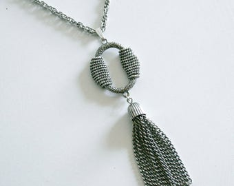 Silver Sarah Coventry Tassel Necklace
