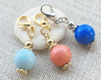 Crochet Markers Set- Knitting Stitch Markers- Removable Stitch Markers- Place Holders - Snag Free Stitch Markers- Nautical Markers
