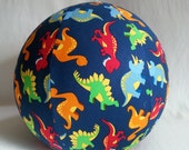 "Just for Alice -  15"" Jumbo Balloon Ball  covers - Dinosaur Fabric"