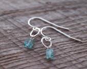 Tiny Apatite Drop Earrings