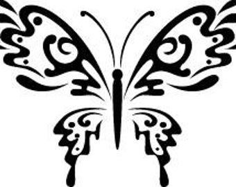 Butterfly wooden handle, rubber stamp