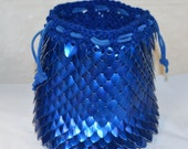 Colossal Scalemail Dice Bag of Holding Knitted Dragonhide custom made and reserved for V.
