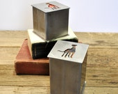 Industrial Steel Box - Greyhound - Whippet - Galgo - READY TO SHIP - Memory Box - Mix & Match - Choose Your Lid - Choose Your Size - Iggy
